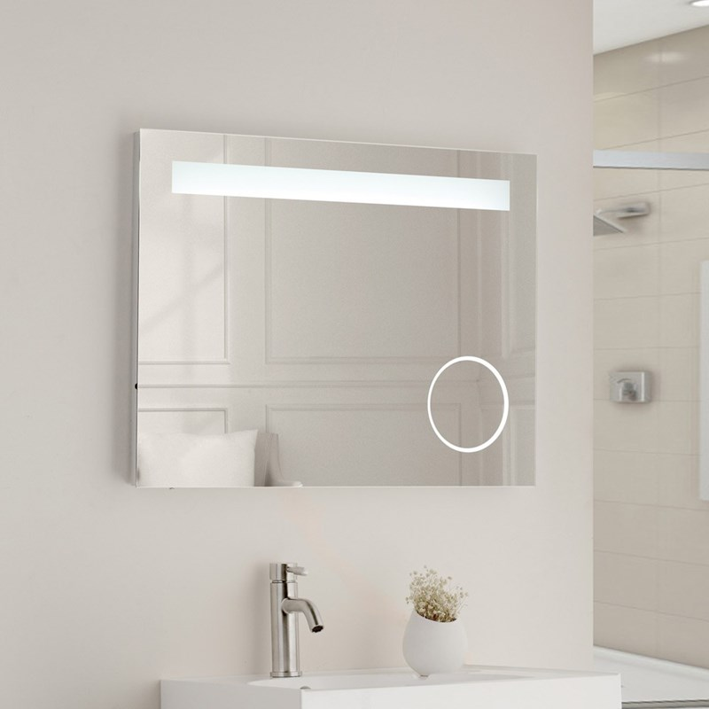 Vellamo LED Illuminated Mirror with Integrated Magnifying Mirror
