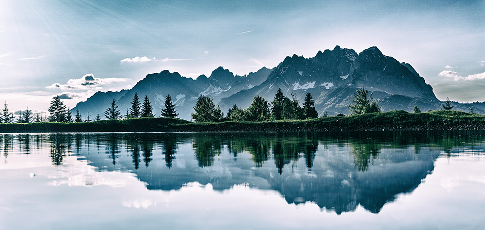 Mountain Landscape Reflecting on a Lake