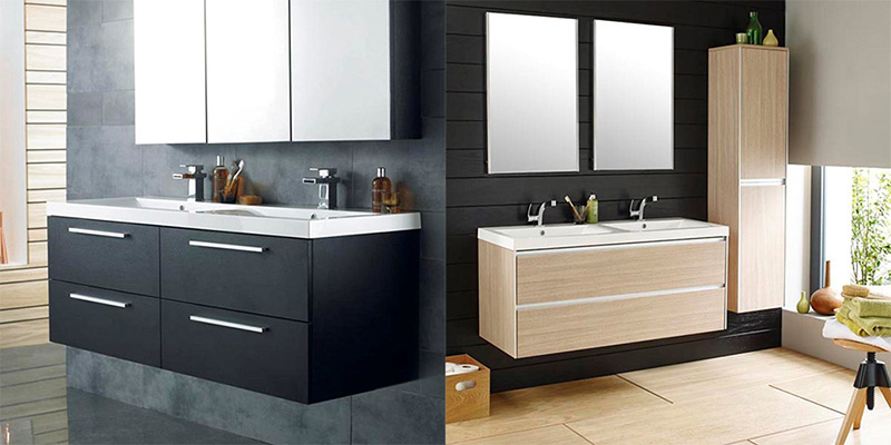 Double Basin Bathroom Vanity Unit