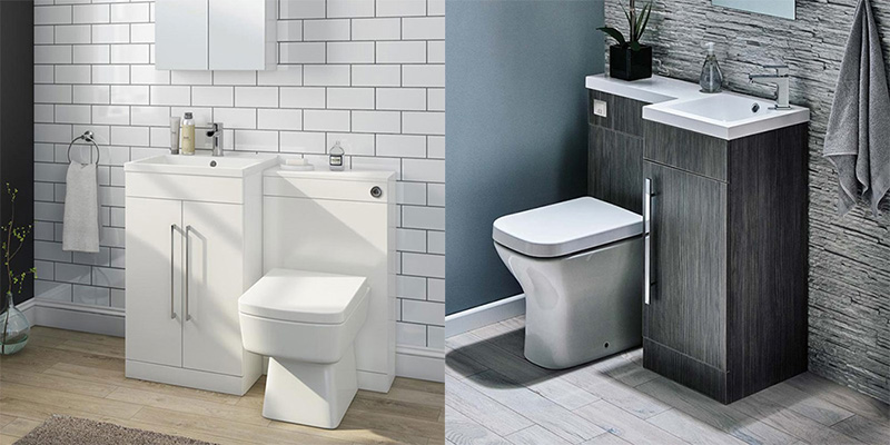 Combination Toilet and Basin Vanity Units