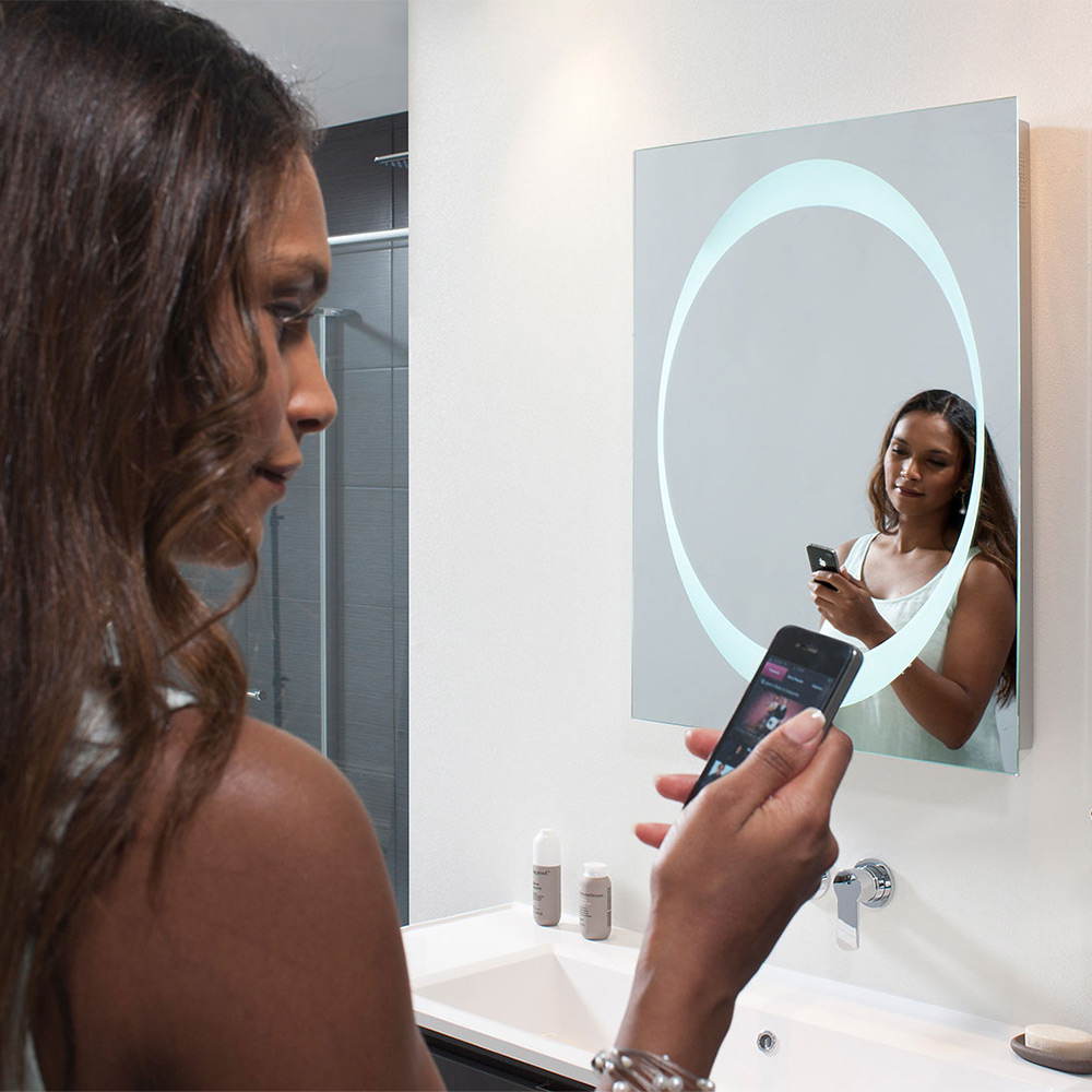Bauhaus Revive LED Mirror with Bluetooth Connectivity