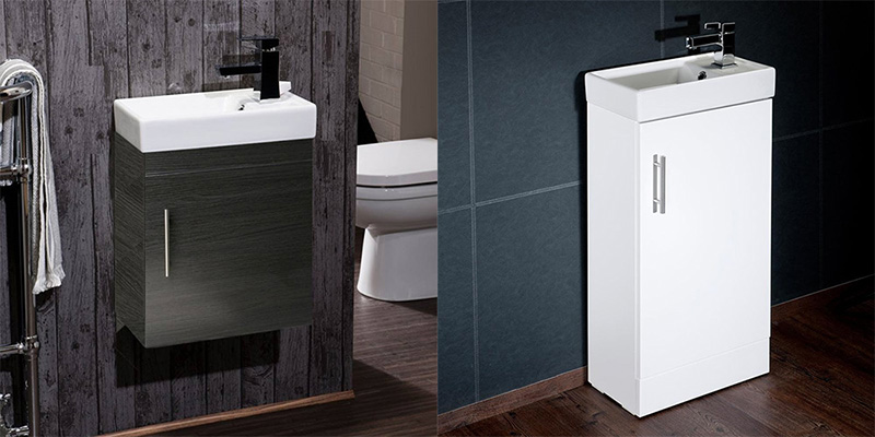 Cloakroom Bathroom Small Vanity Unit