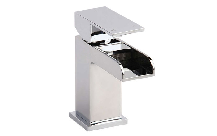 Vellamo Reve Waterfall Basin Mixer with Clicker Waste
