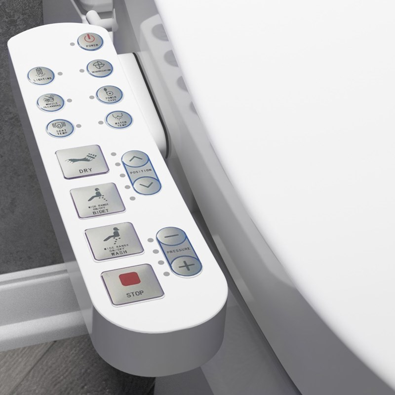 Remote control for Tap Warehouse smart toilet
