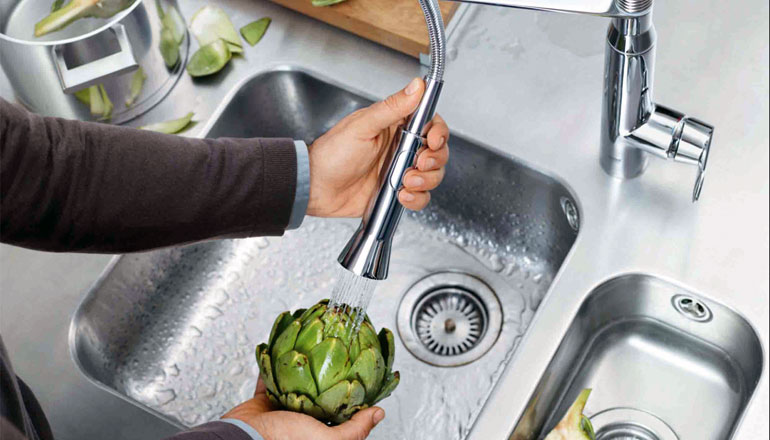 Grohe K7 Professional Mono Sink Mixer with Flexible Pullout Spray