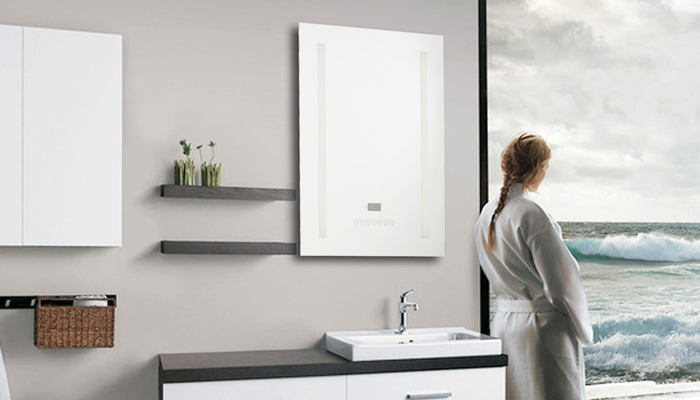 A spotless mirror, emphasising the space in your room.
