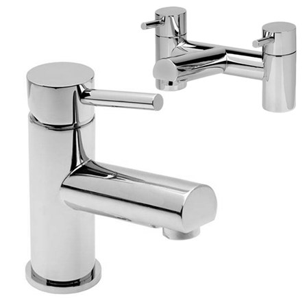 A chrome basin mixer and bath filler pack at a reduced price