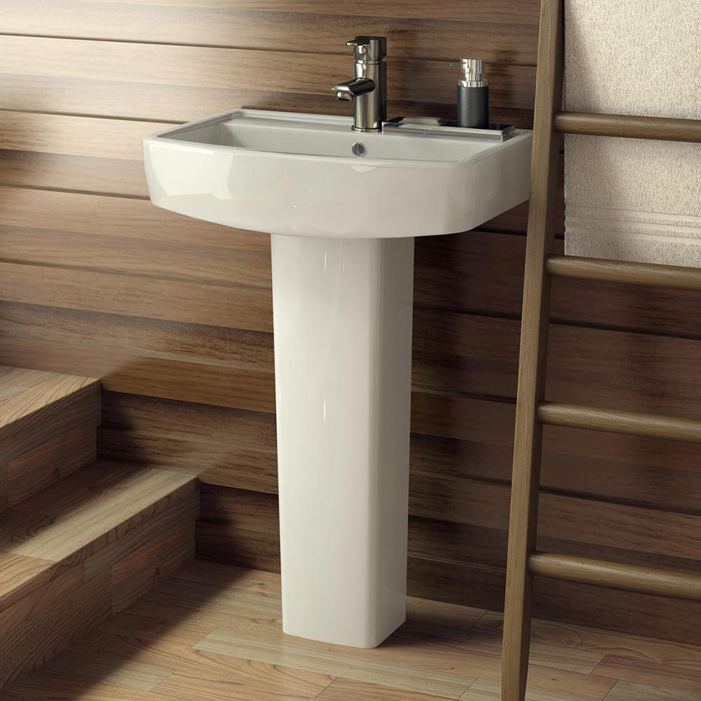 Darcy Cloakroom Basin and Pedestal 430mm