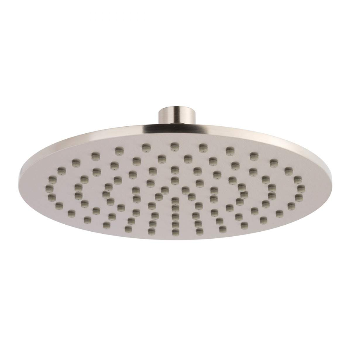 Burnished Brass gold shower head set 200 mm DIA round wall ceiling arm handle up